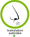 L'extrait essentiel de rose de damas est recommandée + en inhalation