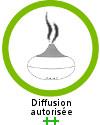 L'extrait essentiel de rose de damas est recommandée ++ en diffusion